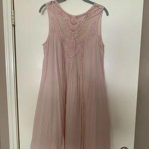 Dusty rose swing dress